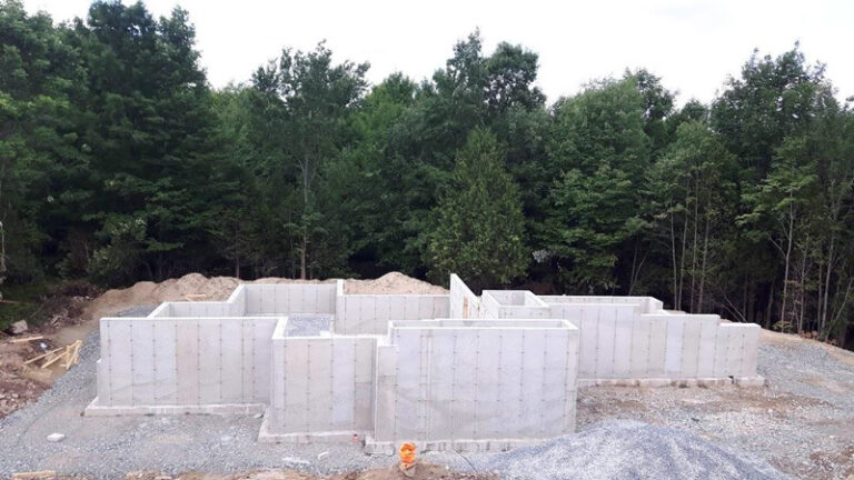 Concrete forms and walls