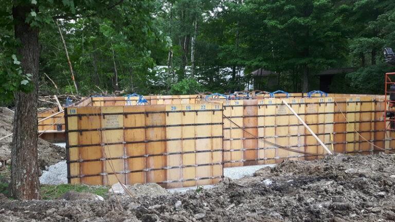 Project: concrete walls