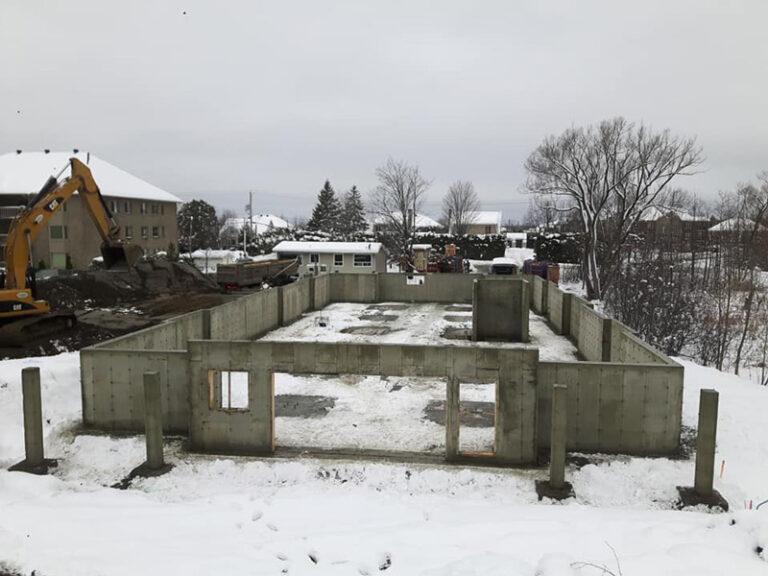 Project: concrete foundation